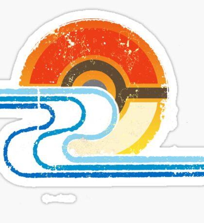 Monster Ball Beach Tee Sticker