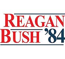 Legendary Regan Bush 84 Campaign Photographic Print