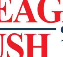 Legendary Regan Bush 84 Campaign Sticker