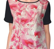 Surrounded by Pink Flowers Chiffon Top