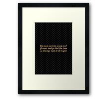 "We must use time... ""Nelson Mandela"" Inspirational Quote Framed Print"