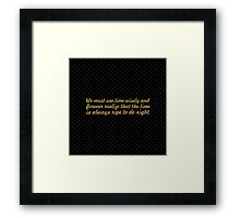 "We must use time... ""Nelson Mandela"" Inspirational Quote (Square) Framed Print"