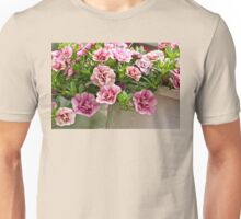 Petunias Posing as Roses Unisex T-Shirt