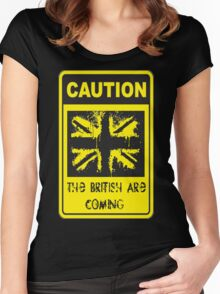 Patriotic Caution Sign Women's Fitted Scoop T-Shirt