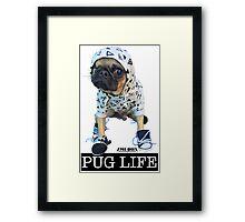 PUG LIFE PEE WEE Framed Print