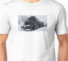 2-8-8-4 Yellowstone Steam Train In The Snow Unisex T-Shirt