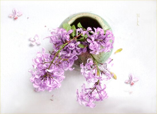 Lilacs in a Green Vase by LouiseK