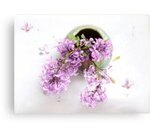 Lilacs in a Green Vase Canvas Print