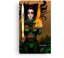 Anthropomorphic War Suit Canvas Print