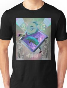 Vaporwave dolphin explores the Internet Unisex T-Shirt