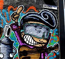 Street art  -  Minns Lane Geelong  #5 by bekyimage