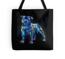 dog in the dark Tote Bag