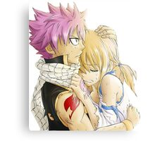 Natsu and Lucy Fairy Tail Metal Print