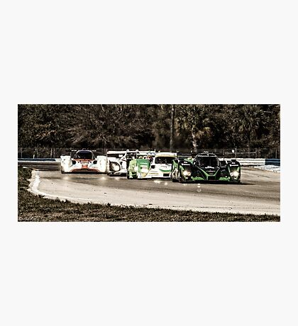 Sports Cars at Sebring 12 Hours 2010 Photographic Print