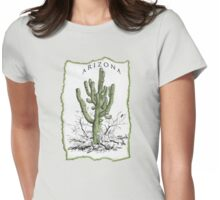 Arizona Saguaro art Womens Fitted T-Shirt