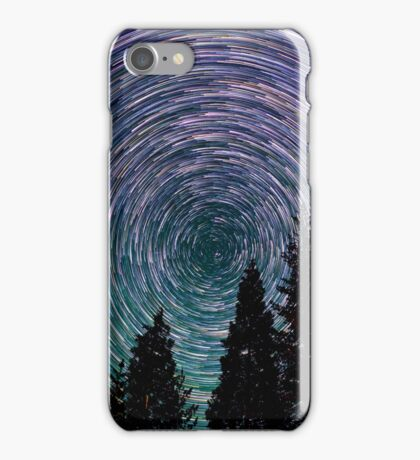 Polaris Star Trails Over Forest in King's Canyon  iPhone Case/Skin