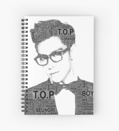 Big Bang - T.O.P Spiral Notebook