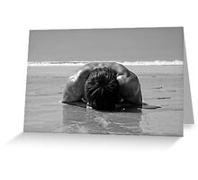 pebble on the beach Greeting Card