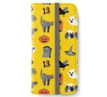 Halloween in yellow iPhone Wallet/Case/Skin