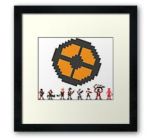 Pixel Fortress 2 - Red Framed Print