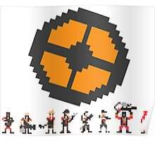 Pixel Fortress 2 - Red Poster