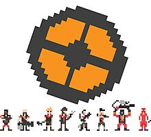 Pixel Fortress 2 - Red Photographic Print