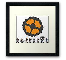 Pixel Fortress 2 - Blu Framed Print
