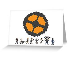 Pixel Fortress 2 - Blu Greeting Card