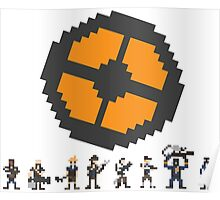 Pixel Fortress 2 - Blu Poster
