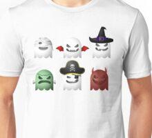 Cute Halloween Ghost Emoji Devil Pirate Frankenstein Unisex T-Shirt