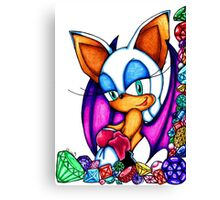 Rouge the Bat Canvas Print