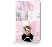 Puppy Filter Dan Howell Aesthetic Collage Greeting Card