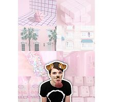 Puppy Filter Dan Howell Aesthetic Collage Photographic Print