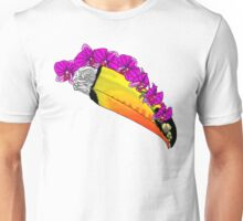 Toucan Skull with Orchids Unisex T-Shirt