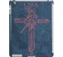 Religious Cross with different symbols iPad Case/Skin