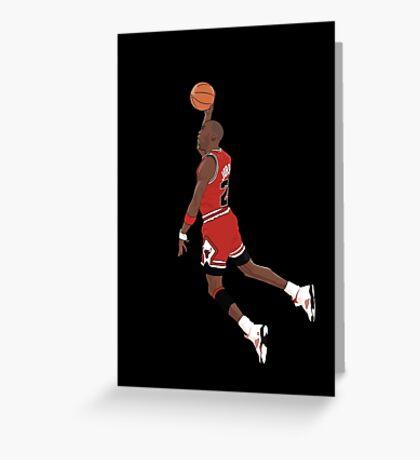Michael Jordan Dunk Greeting Card