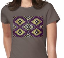 Navajo Vintage Lilac Crazy Quilt Womens Fitted T-Shirt