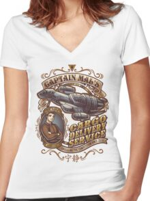 Capt. Mal's Cargo Delivery Women's Fitted V-Neck T-Shirt