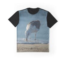 Seagull Drinking Salt Water - Atlantic Ocean | Hampton Bays, New York Graphic T-Shirt