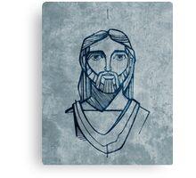 Jesus Christ Face illustration Canvas Print