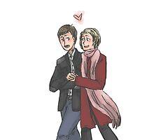 John Watson and Mary Morstan by mcfoily