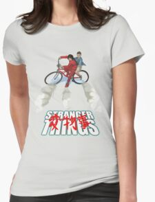 Stranger Things X AKIRA mashup Womens Fitted T-Shirt