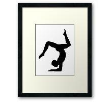 Yoga man Framed Print