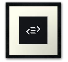 PureScript Dark Framed Print