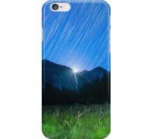 Moon and Star Trails Over King's Canyon iPhone Case/Skin