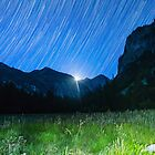 Moon and Star Trails Over King's Canyon by Gavin Heffernan