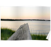 dock over quogue sunset Poster