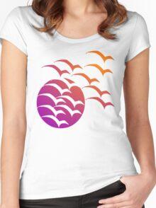 Sunset Migration Women's Fitted Scoop T-Shirt