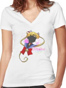 Moon Pride Women's Fitted V-Neck T-Shirt