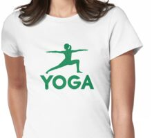 Yoga sports woman Womens Fitted T-Shirt